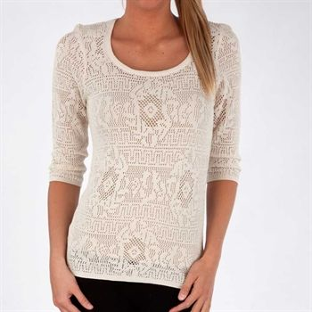 Nic & Zoe Peek-a-Boo Lacy Top with Keyhole #VonMaur #NicandZoe #Print #Neutral