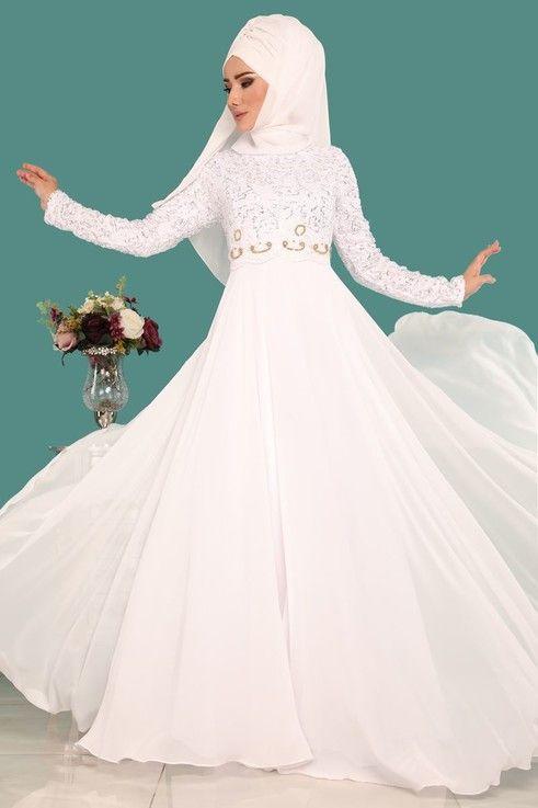 Modaselvim Abiye Pul Payetli Sifon Abiye Pn2007 Ekru Moda Stilleri Elbise Elbiseler