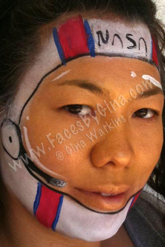 astronaut-helmet.jpg (639×958) | Face Paint | Pinterest ...