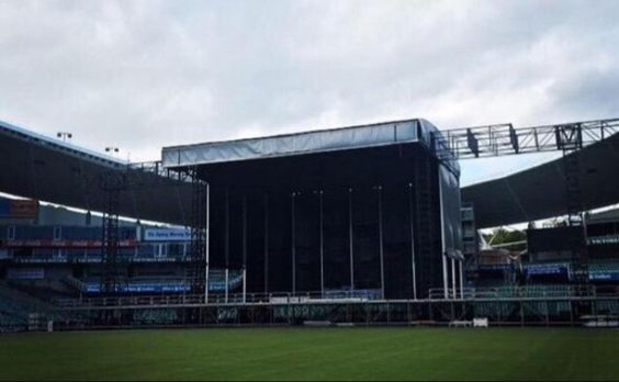 Stage being set up in Australia today :)