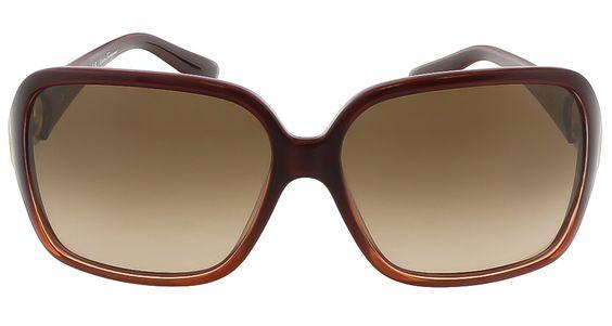 Salvatore Ferragamo SF620SR 223 Crystal Rust Oversized Square sunglasses