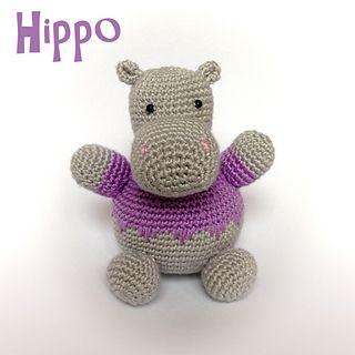 Hippo Amigurumi Patron : Hippo_small2 Crochet doudou Pinterest Ravelry ...