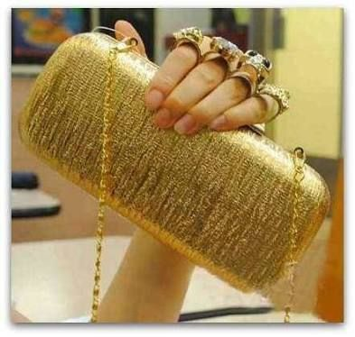 clutch dourada - Pesquisa Google