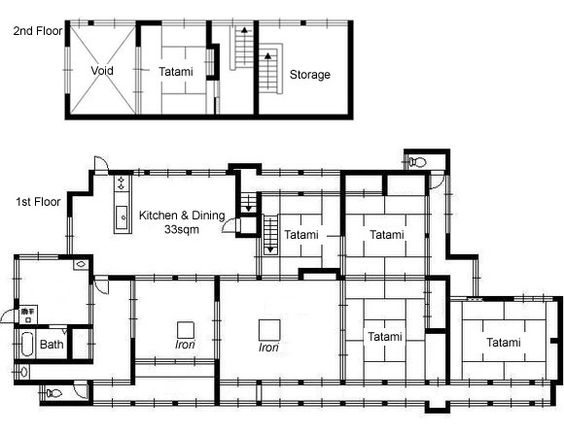 Traditional japanese house floor plan google search for Traditional japanese house plans