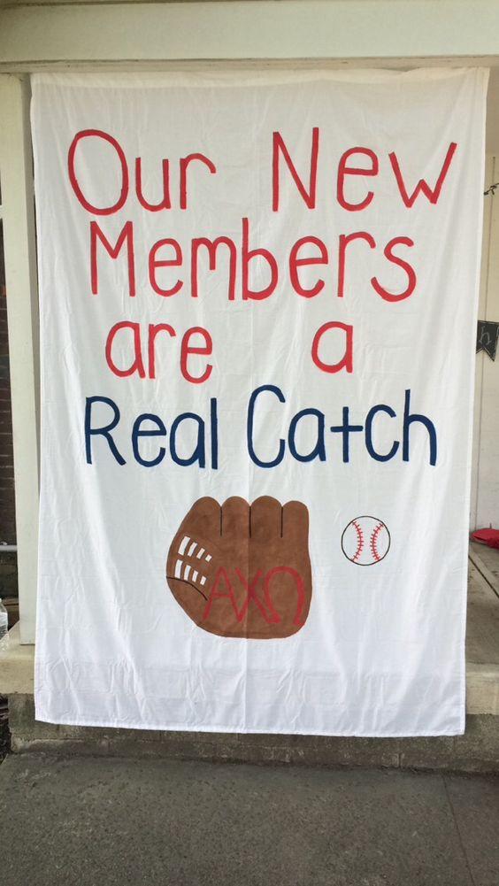 Alpha chi omega baseball themed bid day