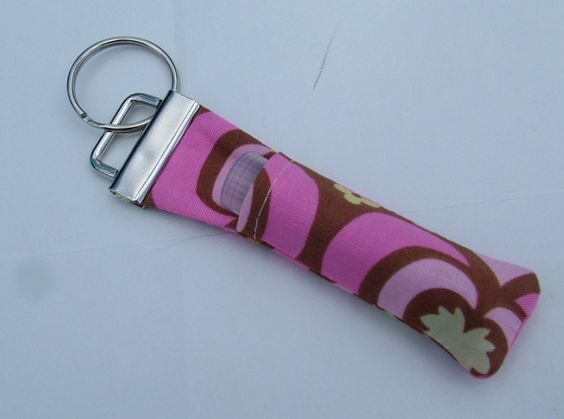 Chapstick / Lip Balm Cozies Key Ring- You Choose Fabric. $4.50, via Etsy.