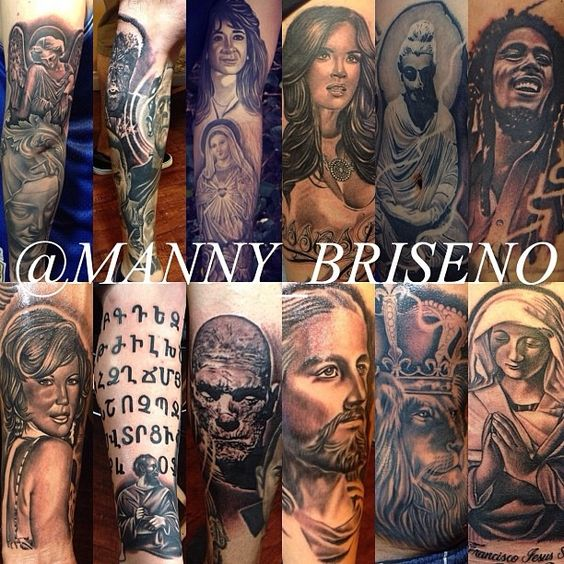 Manny tattoo collage 2