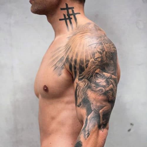 101 Best Neck Tattoos For Men Cool Designs Ideas 2019 Guide Best Sleeve Tattoos Forearm Sleeve Tattoos Neck Tattoo For Guys
