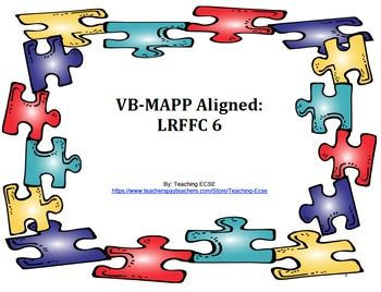 In this download, you will find all the materials you need to assess the LRFFC 6 milestone in the VB-MAPP (from pictures to data sheets!).