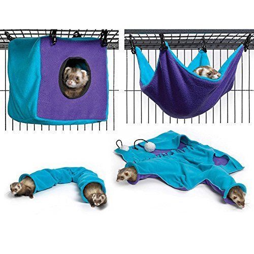 Ferret Cage Accessories Hamster Rat Rabbit Small Pet Chinchilla Cozy Play Rest #Unbranded