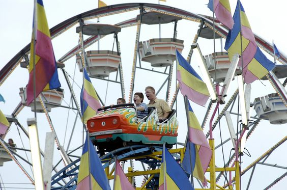 Who's more scared? - Dad or Kids? Ride at the Ohio State Fair, July 25 - Aug. 5, 2012. @OhioStateFair