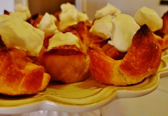 How to Throw a Mustached Astronaut Party « How to Climb a Mountain in High Heels  My spiced puff pastry tartlets