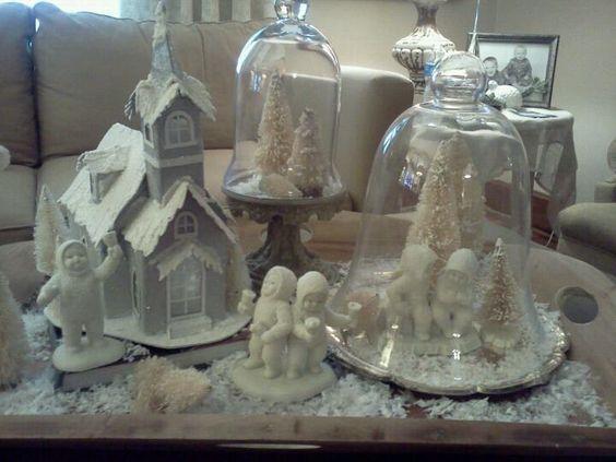 Coffee table snowbabies vignette 2011