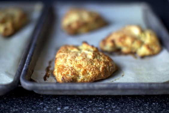 apple cheddar scone by smitten kitchen--my friend made these for us when our baby was born--holy cow; yum!