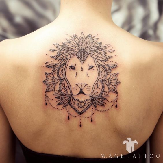 Girly Leo Tattoo Designs