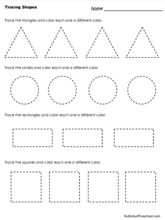 Tracing Shapes | Homeschooling | Pinterest | Fine motor, Shape and ...
