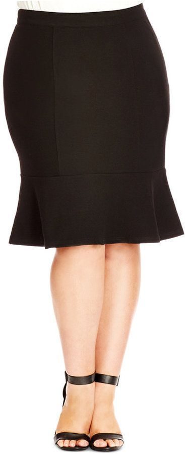 Love!  Plus Size Skirt - Plus Size Fashion for Women