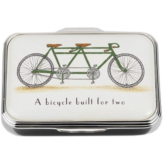 Halcyon Days a Bicycle Built for Two ($285) ❤ liked on Polyvore featuring home, home decor, bike home decor, handmade home decor, halcyon days and bicycle home decor