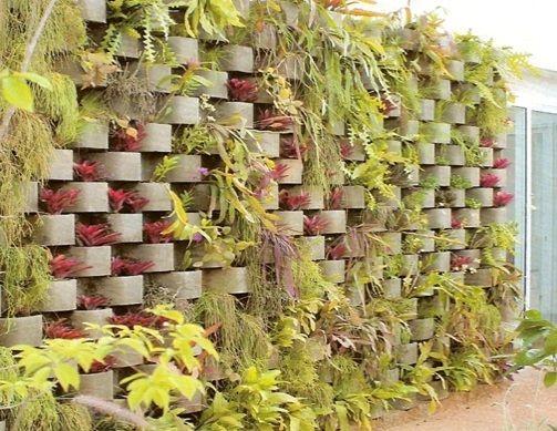 jardim vertical neorex : jardim vertical neorex:Jardim vertical. Técnica de blocos pré-moldados. Utiliza blocos pré