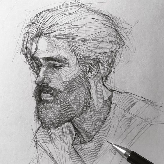 Lunes ✍️  #drawing #sketching #fabercastell #mechanicalpencil #maloart