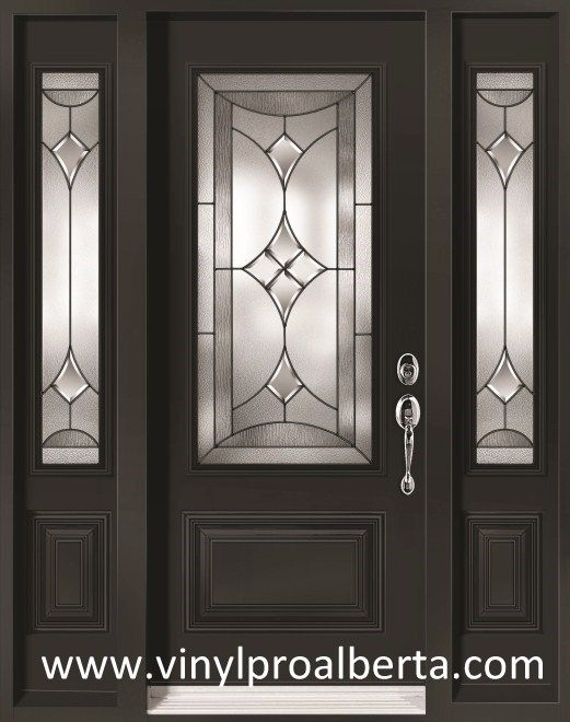Cheap entry doors with side lights steel entry door with for Steel front entry doors