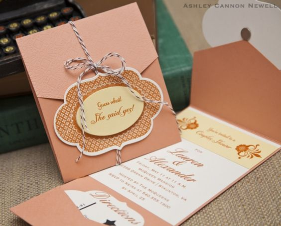 great instructions on make invitation with pocket