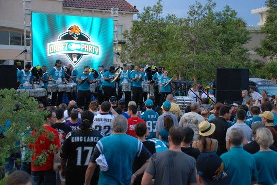 Jaguars D-Line at the draft party