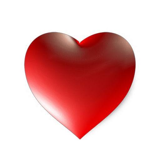 3d Style Heart Symbol Red Heart Sticker Zazzle Com Red Heart Stickers Heart Stickers Heart Symbol