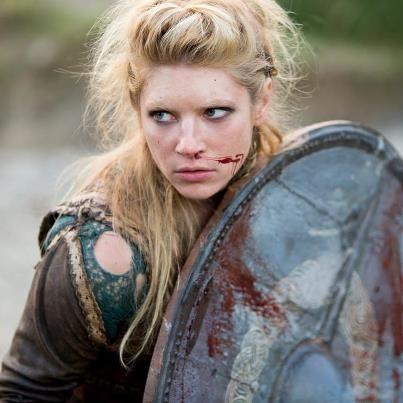 Ragnar's wife, Lagertha ...so badass