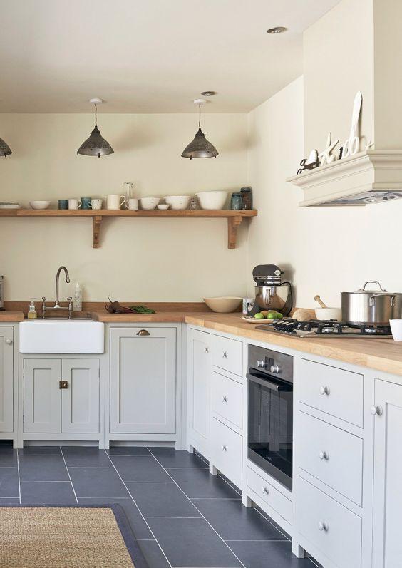 Border oak kitchen featured in shaker brochure devol kitchens and