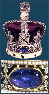 The Stewart Sapphire, which had been owned by the Royal House of Scotland for centuries, was also given to George III. The original owner of the sapphire was reputed to have been King Alexander II of Scotland, who had it  set into his crown for his coronation in 1214.  Edward I of England took the sapphire along with the Stone of Scone in 1296, during his invasion of Scotland. His grandson, King Edward III,  later returned the jewel to his brother-in-law David II of Scotland.