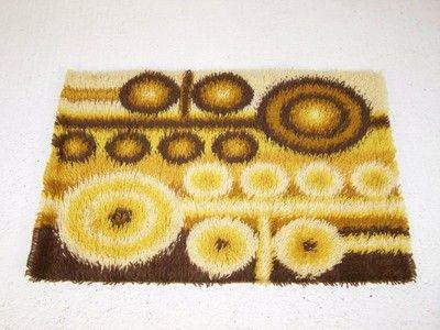 RYA danish vintage retro wall hanging floor rug carpet 1970s