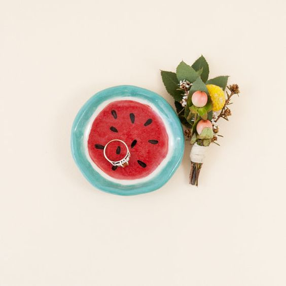 Angie-Speise  Wassermelone Porzellan Schale wenig von thingsbybea