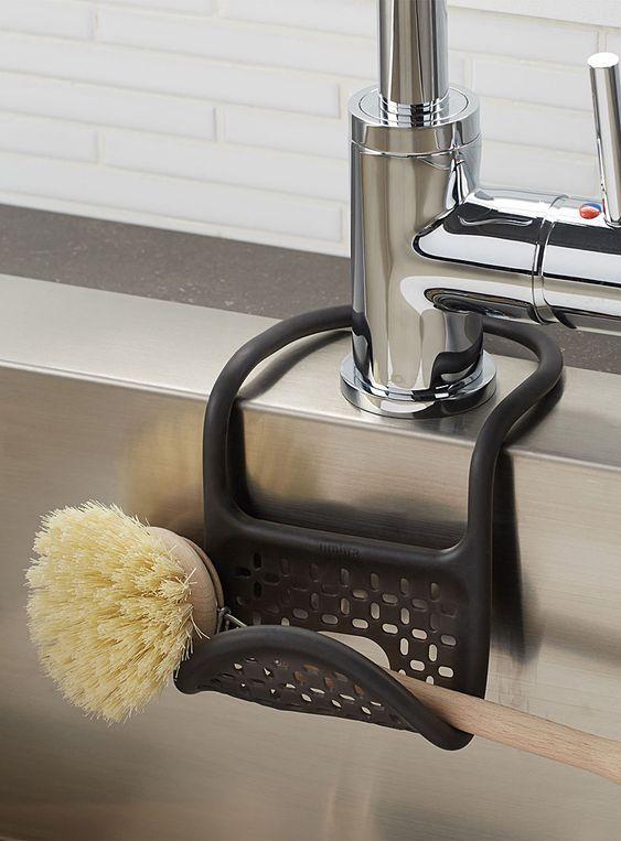 Sling Flexible Sink Caddy Kitchen Sponge Holder Sponge Holder Kitchen Sink Accessories