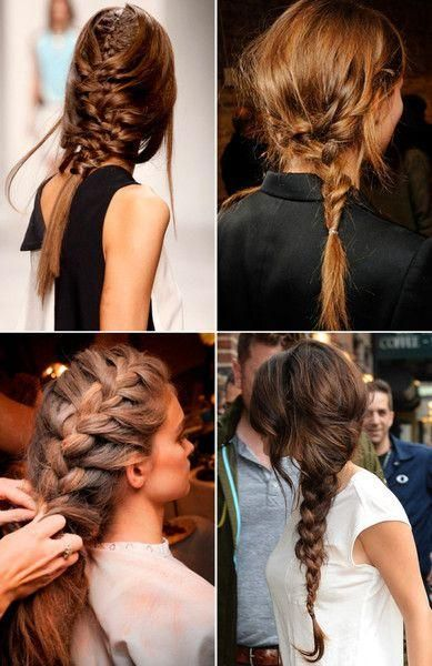 Pleasing Braids Messy Braided Hairstyles And Hairstyles On Pinterest Hairstyle Inspiration Daily Dogsangcom