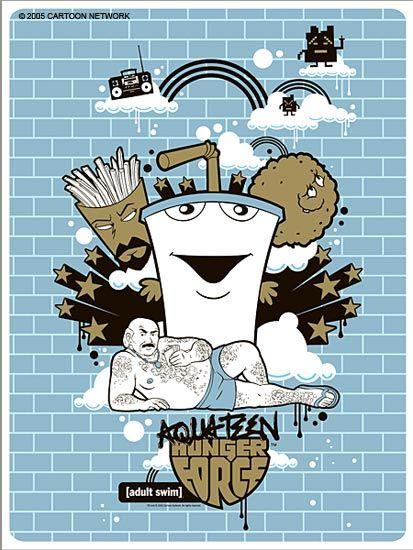 Blue Brick Print - Aqua Teen Hunger Force