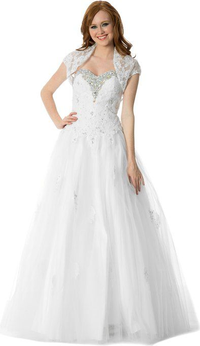 Beaded Lace Tulle Wedding Dress $59.99: