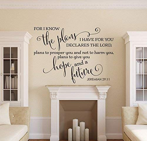 Amazon Com Wall Decal Jeremiah 29 11 Wall Quote Decal Living Room Decor Removable Vinyl Dec Christian Wall Decor Bible Verse Wall Decals Christian Wall Decals
