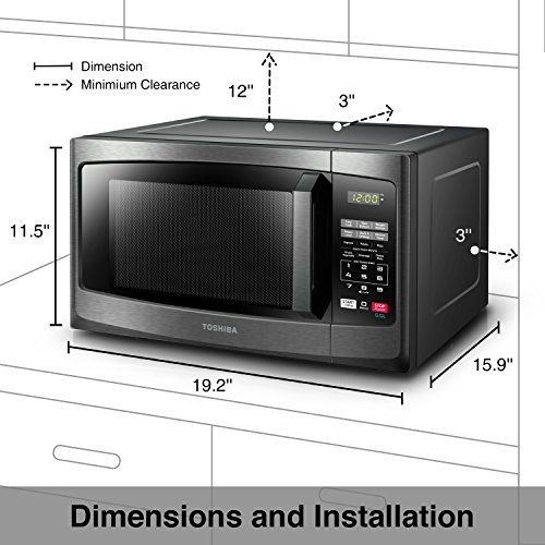 Toshiba Em925a5a Bs Microwave Oven With Sound On Off Eco Mode And Led Lighting 0 Stainless Steel Microwave Microwave Convection Oven Countertop Microwave Oven