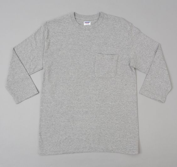 Lot 53004 3/4 Sleeve T-Shirt, Heather Grey