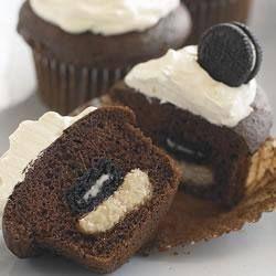 Cupcakes con mini oreo