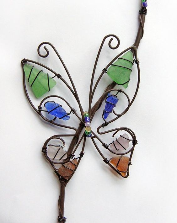 wire butterfly: