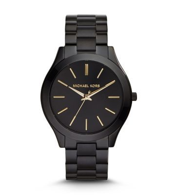 A monochrome masterpiece—we reworked our Runway watch with a polished all-black finish for a tough-luxe vibe. With shimmering gold-tone time stops and our signature engraved logo, this bold piece is the epitome of chic. Slip it on with everything from your favorite off-duty looks to go-to daytime uniforms for a sleek finish—the beauty is in the versatility.