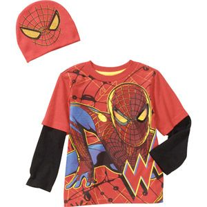 Baby Boys' Spiderman 2-Piece Hangdown and Hat Set