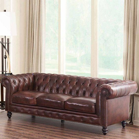 Tô điểm phòng khách với sofa da thật tphcm