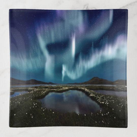 Northern Lights Trinket Tray