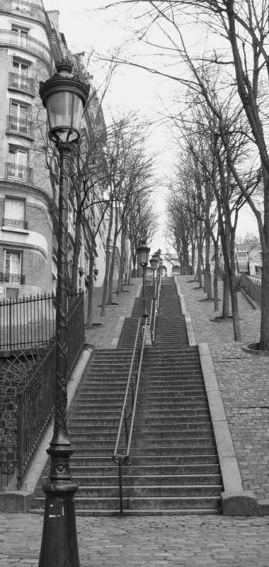 Willst du von Paris was sehen musst du viele Treppen gehen...
