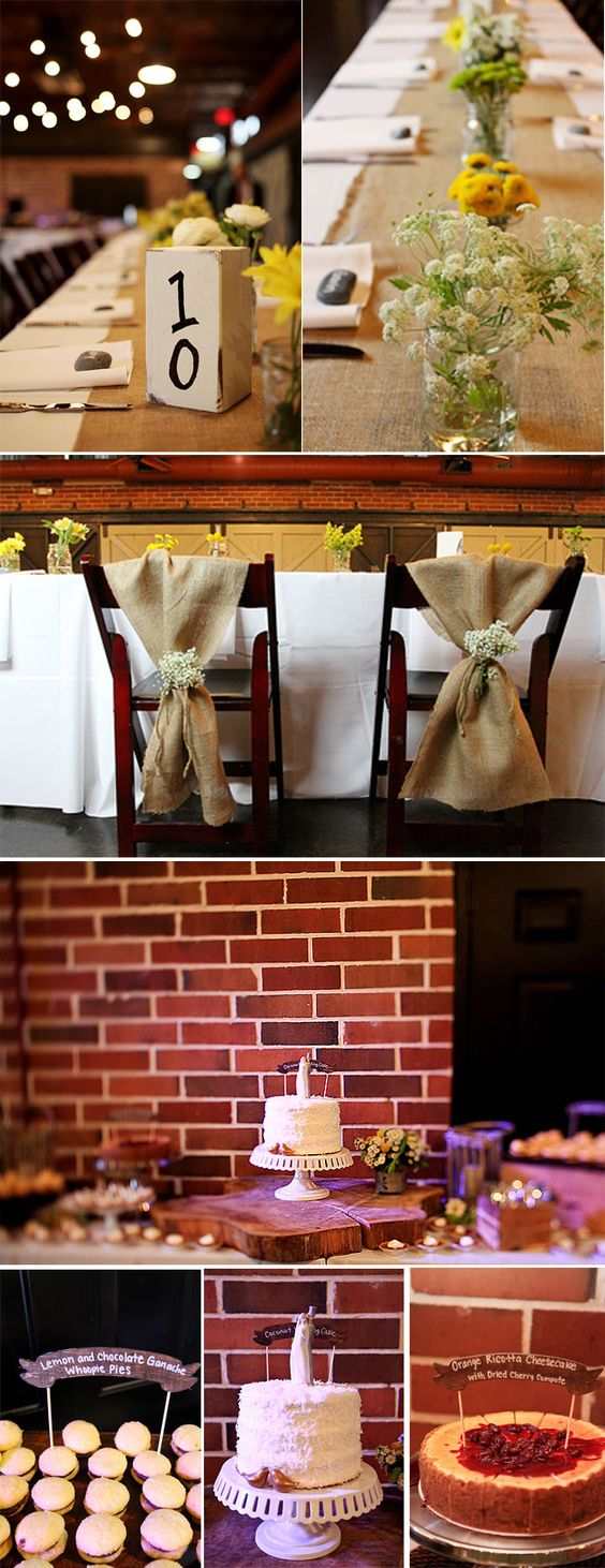 I like the chair decorations.  Very simple, but cute.