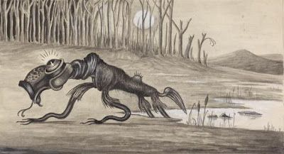 Bunyip // This scaly fairy is far less human than the hag-like Jenny, however. Even less like her is the Aboriginal Bunyip, yet another creature of folklore that lurks in dangerous waters.