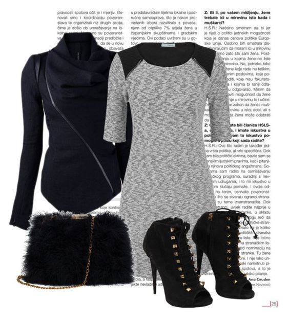 """""""Black and Grey"""" by jordan-hansen on Polyvore featuring maurices, Giuseppe Zanotti and winter2015"""